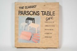 RARE NOS Mid-Century Mod Black Parsons Table Vintage Retro 16