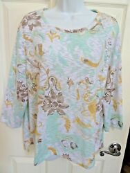 Women's CHICO'S  34 Sleeve Very Lightweight Top Size 3 (=Size 16) XL $16.00