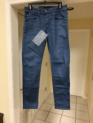 New $130 G Star Men#x27;s 3301 Slim Jeans 29x32 Dark Aged Tag Removed Only $89.99