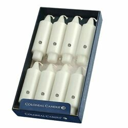 Colonial Candle White Unscented 5quot; Grande Classic Taper Candlesticks Box of 8 $34.00