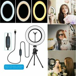 LED Ring Light Studio Photo Video Dimmable Lamp Tripod Stand Selfie Camera Phone $18.88