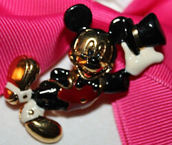 NAPIER SIGNED DISNEY MICKEY MOUSE ENAMEL PIN EXCELLENT WITH SUCH DETAIL LOOK $38.99