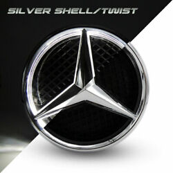 Illuminated Car Motors Led Grille Logo Emblem Light For Mercedes Benz Twist Type $55.99