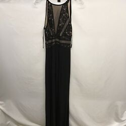 Morgan amp; Company Trendy Size 5 6 Open Back Gown Long Slit Sleeveless Long Black $34.99