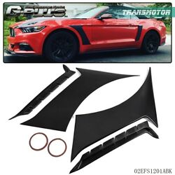 For 15-17 Ford Mustang GT350 Style Unpainted ABS Front Side Fender Door Scoops  $73.73
