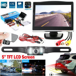 Wired Car Backup Camera Rear View System With Night Vision& 5