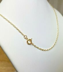 Gold cable linked chain made of 925 sterling silver chain necklace $16.20