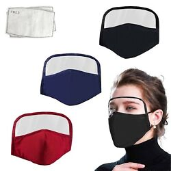 Cotton Windproof Outdoor Face Protective Face Mask with Eyes Shield + 2 Filters $11.99