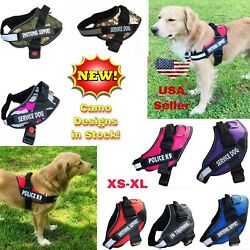 Adjustable Service Dog Harness Vest Patches Reflective Small Large Medium XS-XL $11.49