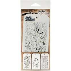Tim Holtz Mini Layered Stencil Set 3Pkg Set #10 653341058317 $10.55