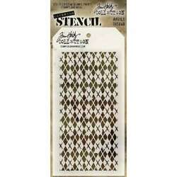 Tim Holtz Layered Stencil 4.125X8.5 Argyle 019962677526 $6.95