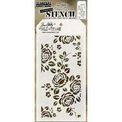 Tim Holtz Layered Stencil 4.125X8.5 Roses 653341455413 $6.95