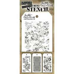 Tim Holtz Mini Layered Stencil Set 3Pkg Set #25 653341839510 $10.05