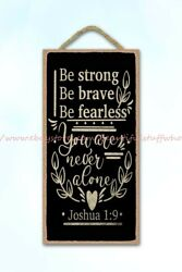 rustic wall decor be strong be brave be fearless Christian Bible verse wood sign $14.99