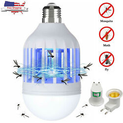 Bug Zapper LED Light Bulb Mosquito Lamp Fly Indoor Outdoor Insect Trap Killer $4.74