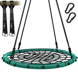 40quot; Net Swing Round Spider Web Tree Swing with 2 Hanging Straps 660Lbs for Kids $85.51