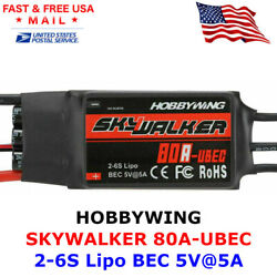 Hobbywing Skywalker 80A UBEC 2 6S ESC Electric Speed Controller for RC Airplane $29.95