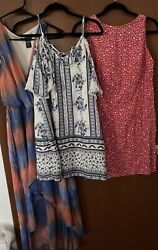 Lot of 3 Women#x27;s Summer Sun Dresses Size S $8.00