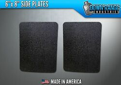 AR500 Level III 3 Body Armor Plates Pair - Curved 6x8 Side Plates $54.95