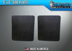 AR500 Level III 3 Body Armor Plates Pair - Curved 6x6 Side Plates $54.95