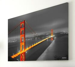 Golden Gate Bridge 20quot;x30quot; Canvas Print Framed for Office Home Christmas Gift $69.99