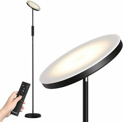 LED Floor Lamp Stepless Dimming Color Temperature Torchiere Lamp Remote Control $59.99