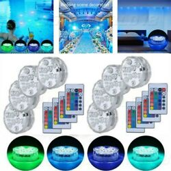 Swimming Pool Light RGB LED Underwater Remote Control Multi Color Fountain Light $7.99