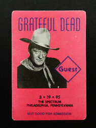 Grateful Dead Backstage Pass John Wayne Last GD Spectrum Show 31995 3191995