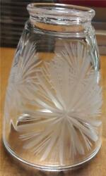 Heavy Crystal Glass Torchiere Floor Lamp Shade 3 7 8quot; Diameter x 5quot; Height $4.15