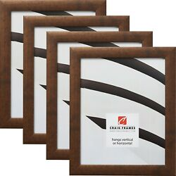 Craig Frames 1quot; Contemporary Rustic Copper Picture Frame Set of 4 Frames $43.98