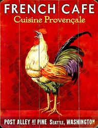 TIN SIGN quot;Rooster French Cafequot; Establishments Decorative Wall Decor $7.35