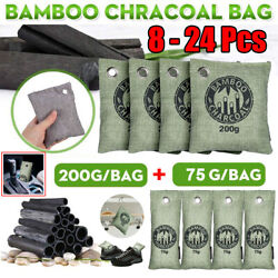 8 24Bags Air Purifying Bag Purifier Nature Fresh Charcoal Bamboo Mold Freshener $20.99