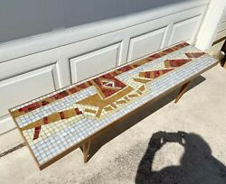 Vintage Mid Century Modern Mosaic Coffee Table In Good Condition $1,250.00
