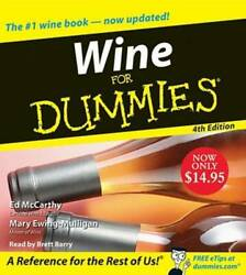 Wine for Dummies CD 4th Edition Audio CD By McCarthy Ed VERY GOOD $6.67
