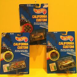 Hot Wheels CALIFORNIA CUSTOM Lot of 3 Gold Studio Limos #x27;34 Ford real riders $29.99
