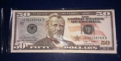 New $50 Dollar Bill Paper Money Blli-Fold  thin durable Canvas Wallet $2.99