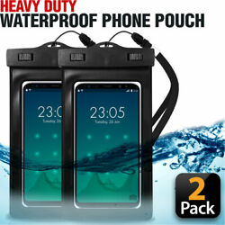 Swimming Waterproof Underwater Dry Bag Pouch Clear Cell Phone Case Cover 2-PACK $7.99