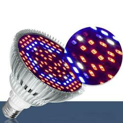 30W-80W E27 LED Grow Light Bulb Plant Grow Lamp Full Home Garden Spectrum S4S5 $7.76