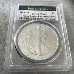 2020 P $1 American Silver Eagle PCGS MS69 Emergency Production Philadelphia $57.95