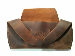 Hide & Drink, Rustic Durable Leather Foldable Sunglass Case Bourbon Brown $11.99