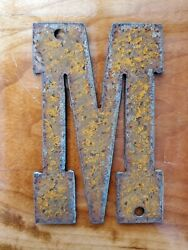 Western Rusty Steel Metal Letter M 6 inch FREE SHIPPING Rustic Decor $7.25