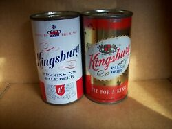 Kingsbury Swing to the King and Kingsbury Fit for a King Flat Top Beer Cans  $15.54