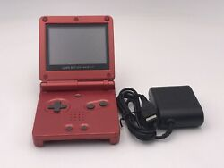 Nintendo GameBoy Advance SP Handheld System - Flame Red AGS-001 $48.00
