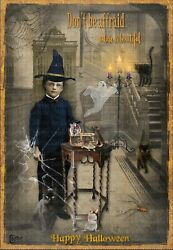 Cards by Colette #x27;#x27;Halloween Boy and Mice#x27;#x27; Greeting Card2467 $5.00