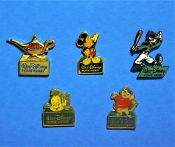 DISNEY HOME VIDEO MICKEY MOUSE GOOFY BERNARD LAMP 5 VINTAGE PIN LOT C $26.65