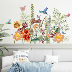 Decals DIY Living Room Art Flower Butterfly Home Decor Wall Sticker Plant Decal $9.89