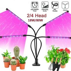 4 Heads 2 Heads LED Grow Light Plant Growing Lamp for Indoor Plants Hydroponics $26.99