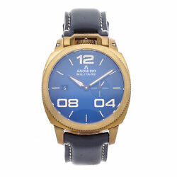 Anonimo Militare Bronze Blue Dial Automatic Strap Watch 1020.04.003.A03 $1,450.00