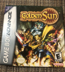 Authentic Golden Sun For Gameboy Advance In box $75.00