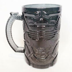 Paladone Set of 4 Batman Clear Black Glass Mugs 750ml NEW IN BOX $79.97